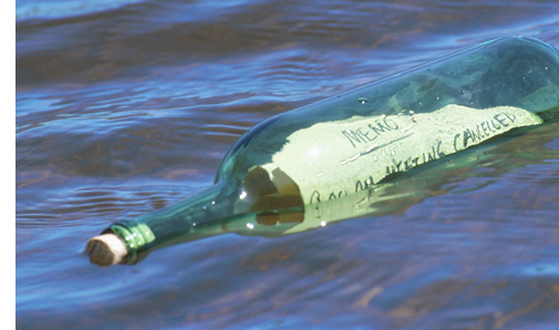 photo of message in a bottle